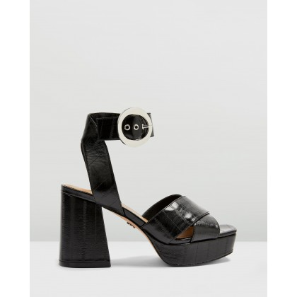 Reggie Platform Sandals Black by Topshop