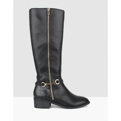 Reins Knee High Boots Black by Betts