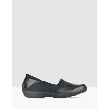 Relax 2 Dual Fit Flats Black by Airflex