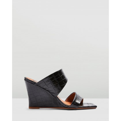 Rellik Wedge Mules Black by Topshop