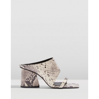 Rena Square Toe Mules Nude by Topshop