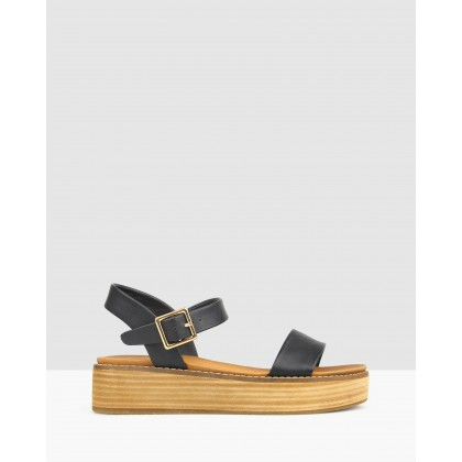 Renegade Flatform Sandals Black by Betts