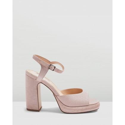 Reno 90s Platform Heels Pink by Topshop