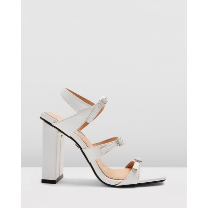 Reptile Strappy Sandals White by Topshop
