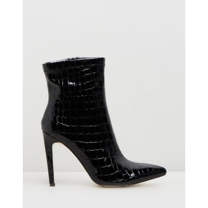 Revive Black Patent Croc by Public Desire
