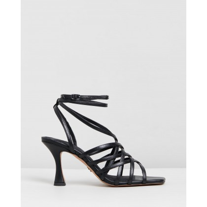 Rhapsody Strappy Sandals Black by Topshop