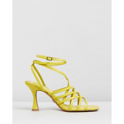 Rhapsody Strappy Sandals Lime by Topshop