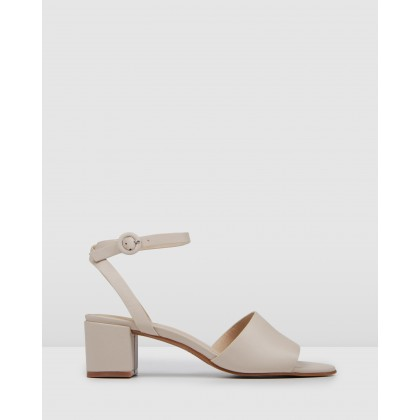 Rhodes Low Heel Sandals Bone Leather by Jo Mercer