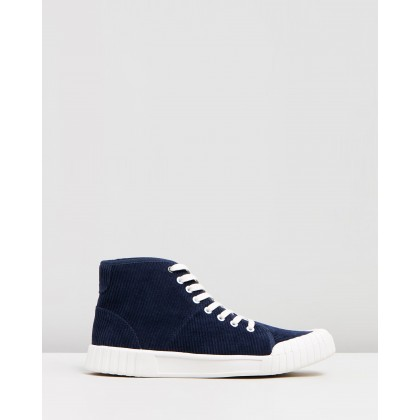 Rhubarb High Top Sneakers Navy by Good News