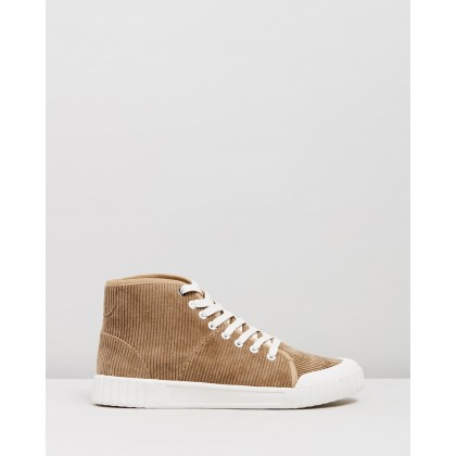 Rhubarb High Top Sneakers Tan by Good News