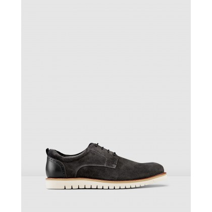 Rich Lace Up Shoes Dark Grey by Aq By Aquila