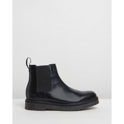 Rick Abrasivato Boots Black by Saturdays Nyc