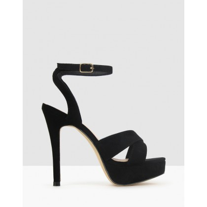 Ridicule Platform Stiletto Sandals Black by Betts