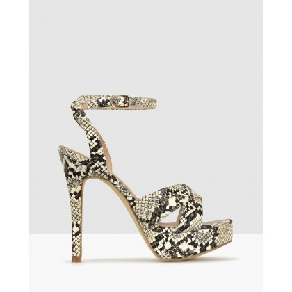 Ridicule Platform Stiletto Sandals Snake by Betts