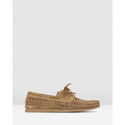 Rift Huarache Boat Shoes Tan by Betts