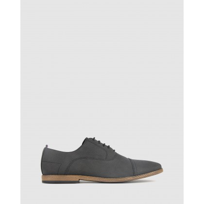 Riley Casual Derby Shoes Black by Betts