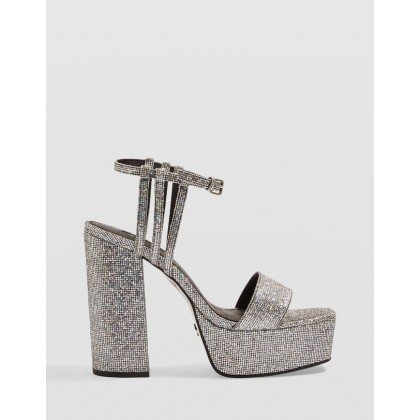 Ringo Platform Sandals Silver by Topshop