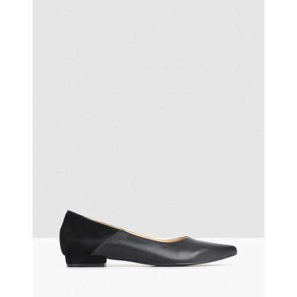 Riot Leather Pointed Pumps Black by Airflex