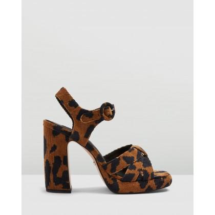 Ripple Platform Heels Leopard by Topshop