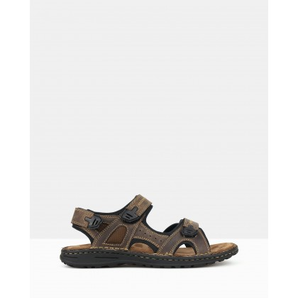 Robert Sports Sandals Brown by Airflex