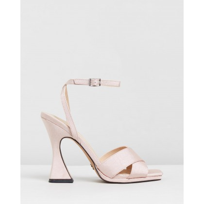 Rodeo Cross Sculpt Heels Nude by Topshop
