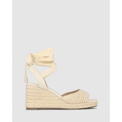 Romy Espadrille Wedge Sandals Natural Raffia by Betts