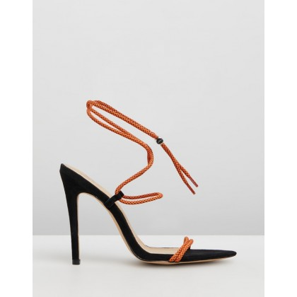 Rope Pointed Toe Heels Orange by Missguided