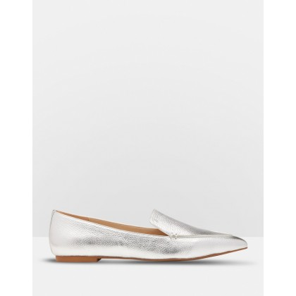 Rose Leather Loafers SILVER by Oxford