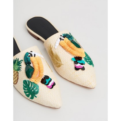 Rose Mules Natural by Mara & Mine