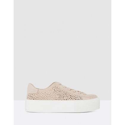 Rosie Flatform Trainers Pink by Forever New