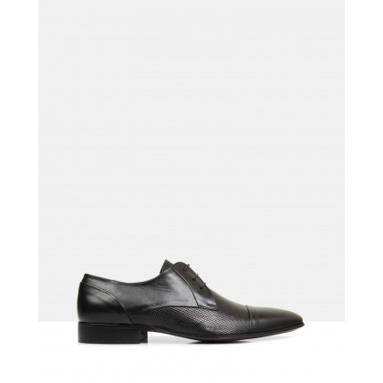 Ross Leather Derby Shoes Nero by Brando