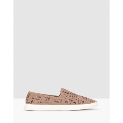 Roy Perforated Slip On Loafers Pink by Betts