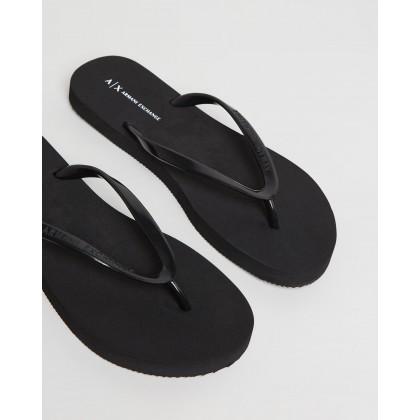 Rubber Thongs Black by Armani Exchange