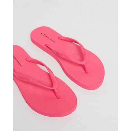 Rubber Thongs Fuchsia by Armani Exchange