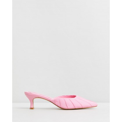 Ruched Kitten Heels Candy Pink by Jaggar The Label