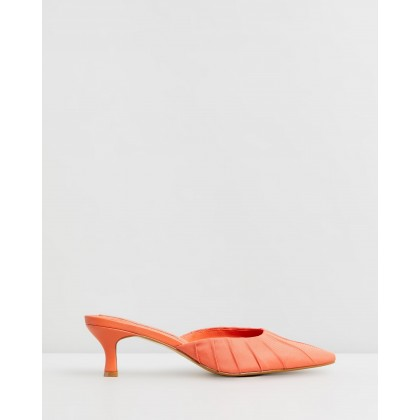 Ruched Kitten Heels Orange by Jaggar The Label