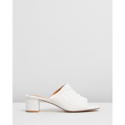 Ruched Slides Ivory by Jaggar The Label