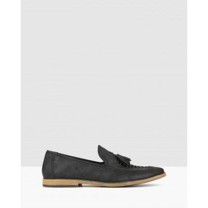 Rumble Tassel Loafers Black by Zu