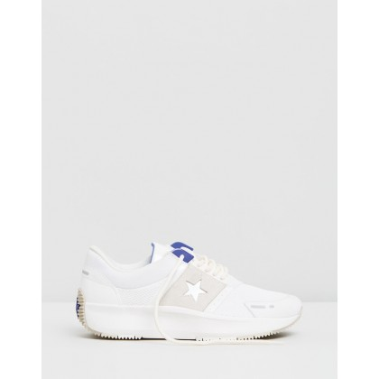 Run Star The Rundown Low Top Ox - Women's Vintage White, Egret & Light Racer Blue by Converse