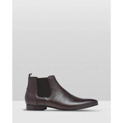 Rupert Leather Boots Espresso by Oxford