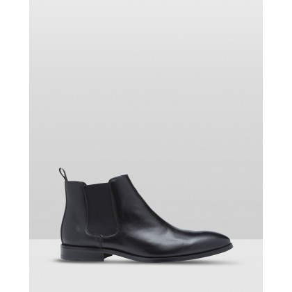 Ryan Leather Boot Black by Oxford