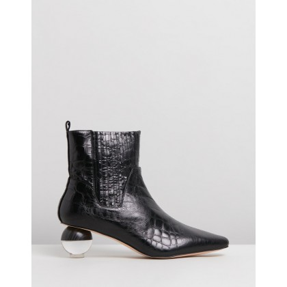 Ryland Black Croc-Embossed Leather by Skin