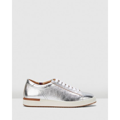 Sabine Sneakers Silver Metallic by Hush Puppies