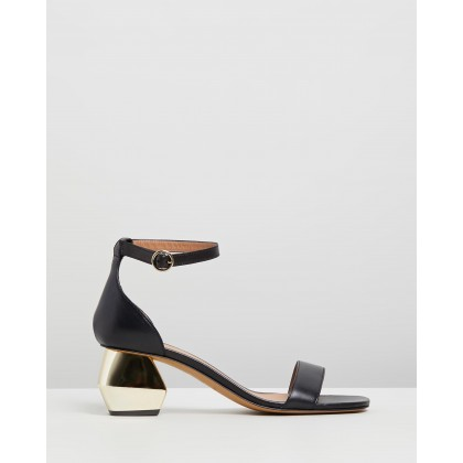 Sabo Buckled Sandals Black by Emporio Armani