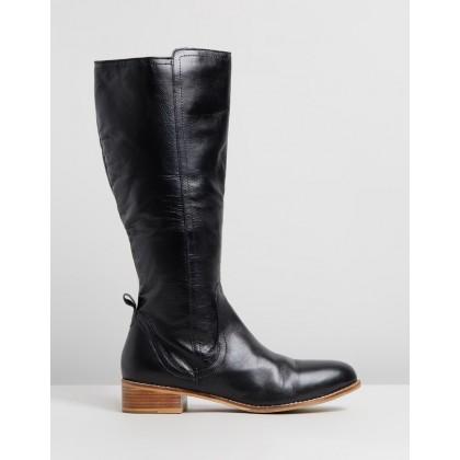 Sabrina Black Leather by Human Premium
