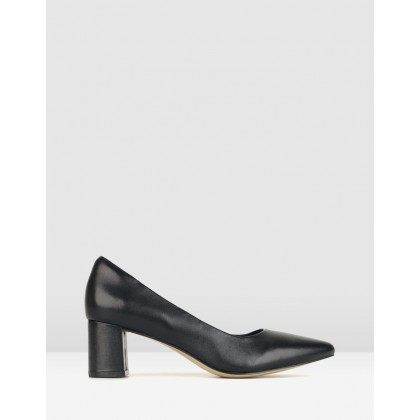 Sabrina Block Heel Pumps Black by Airflex