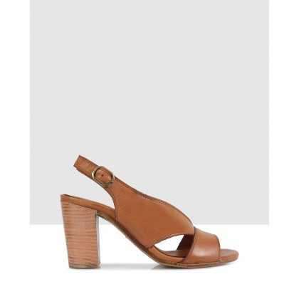 Sabrina Heeled Sandals Tan-8402 by S By Sempre Di