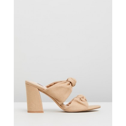 Sade Mules Ecru Canvas by Dazie