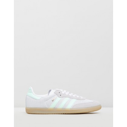 Samba Original - Women's Feather White, Ice Mint & Grey by Adidas Originals
