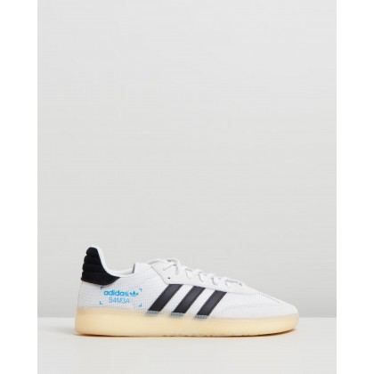 Samba RM - Unisex Crystal White, Core Black & Bluebird by Adidas Originals